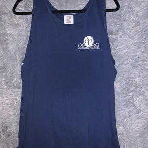 Southern Couture Navy Blue Muscle Tank
